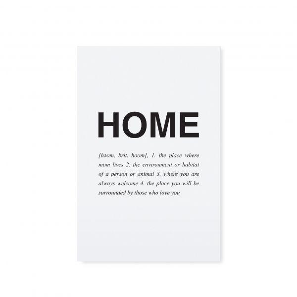 """Postkarte """"HOME"""" von Tafelgut"""