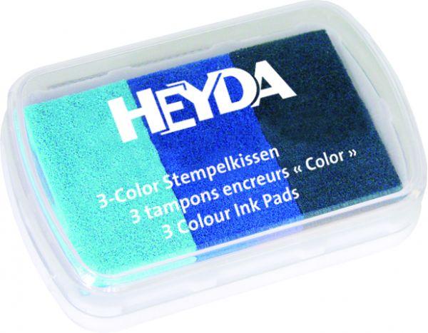 "3-Color-Stempelkissen ""Blautöne"" Heyda"