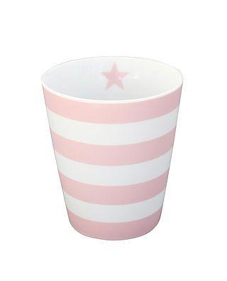 Tasse mit Streifen, rosa