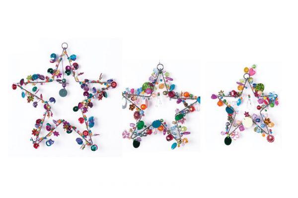 Anhänger mit Perlen Sterne, 3er Set
