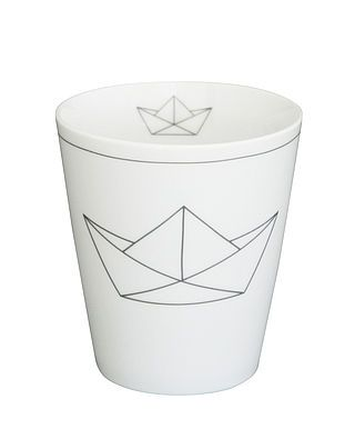 Tasse Papier Boot, grau