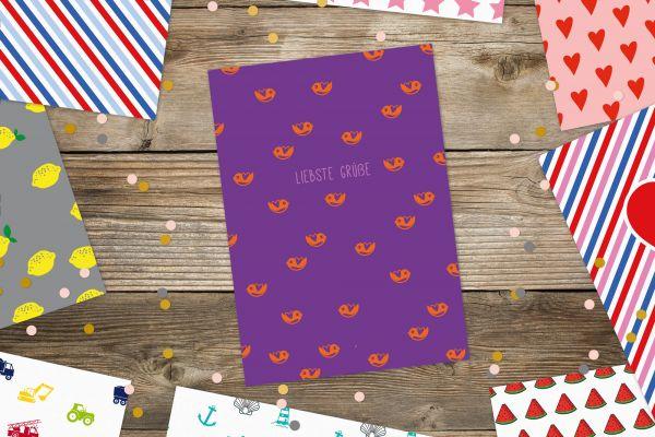 """Postkarte """"Liebste Grüße"""" Vögel"""