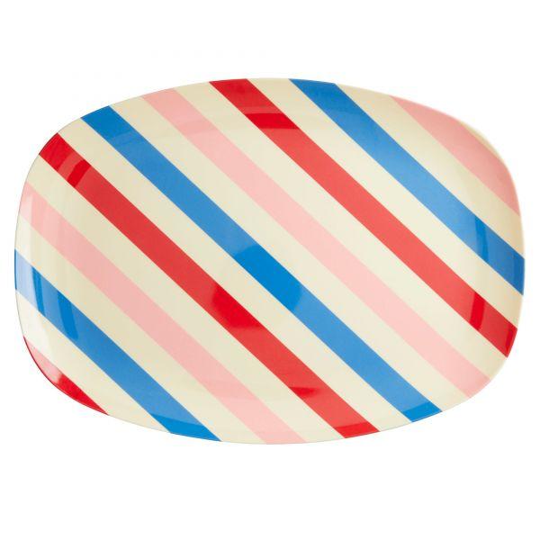 """Platte mit Streifen """"candy stripes"""""""