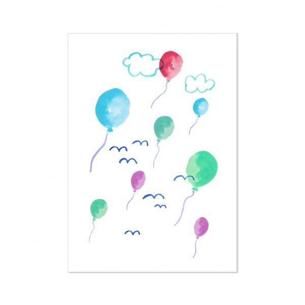 """Postkarte """"Luftballons"""""""