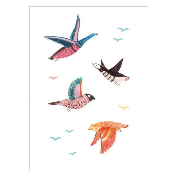 """Postkarte """"Wildvögel"""""""