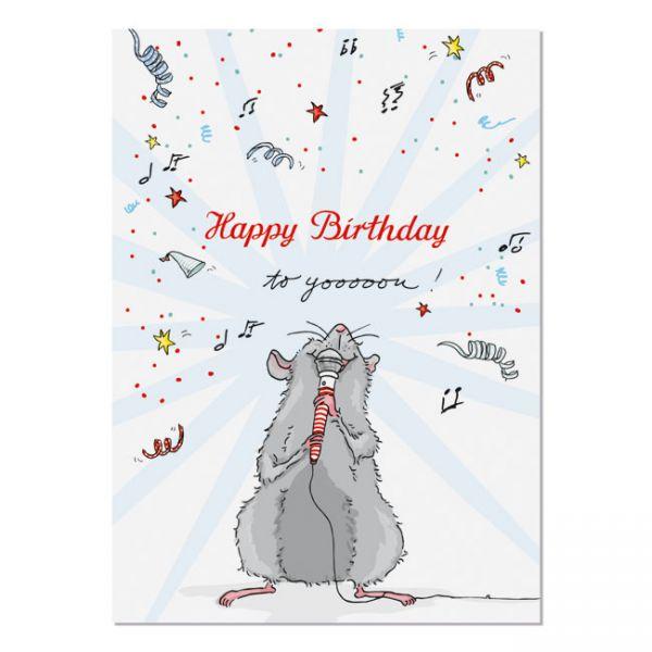 krima&isa Postkarte Geburtstagskonzert- Happy Birthday