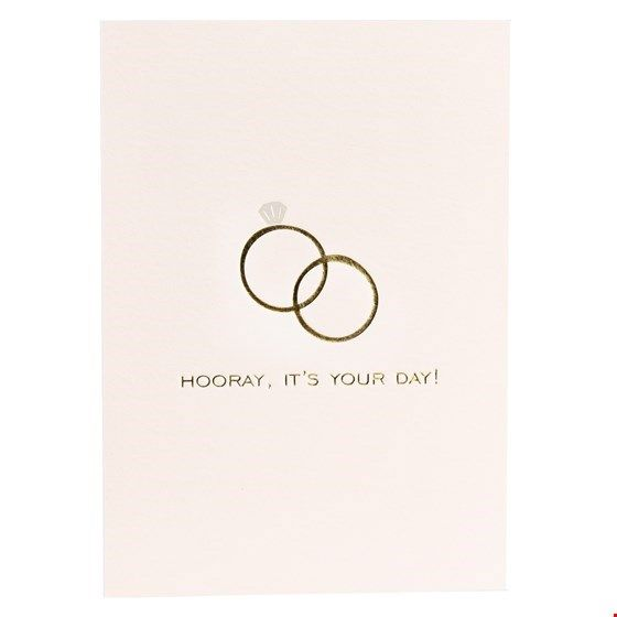 "Postkarte Hochzeit ""Hooray it's your day"""