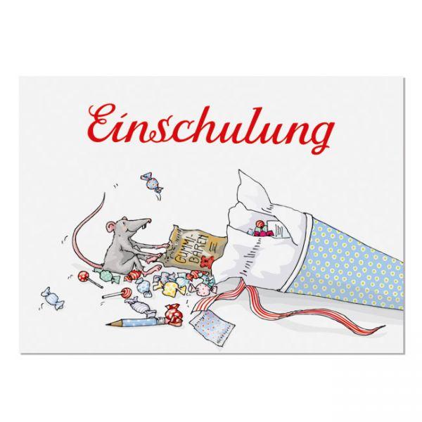 krima&isa Postkarte Einschulung - Schultüte