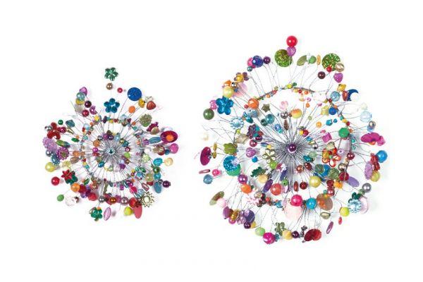 Anhänger mit Perlen Rad, 2er Set