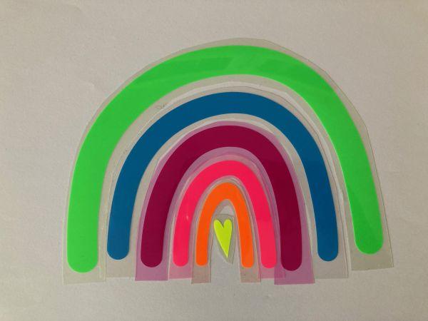 Regenbogen (geplottet zum Aufbügeln) in Neonfarben, grün
