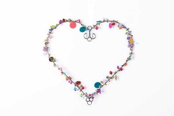 Anhänger mit Perlen, Herz