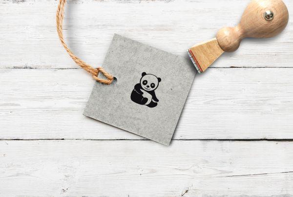 Stempel Pandabär, klein