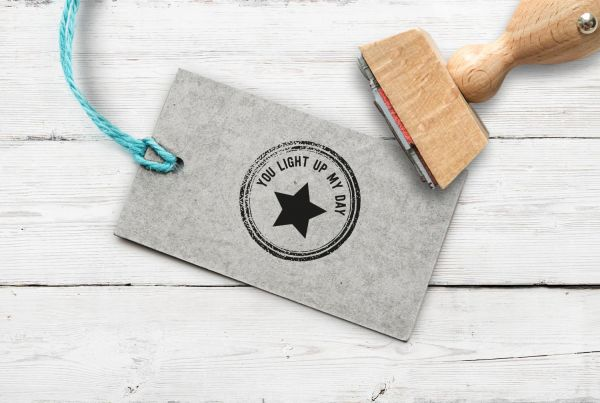 """Stempel """"you light up my day"""""""