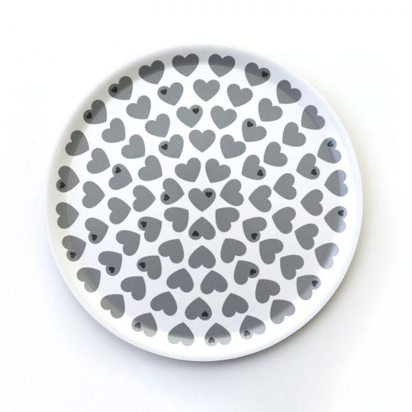 byGraziela Tablett, Herzen grau-weiß