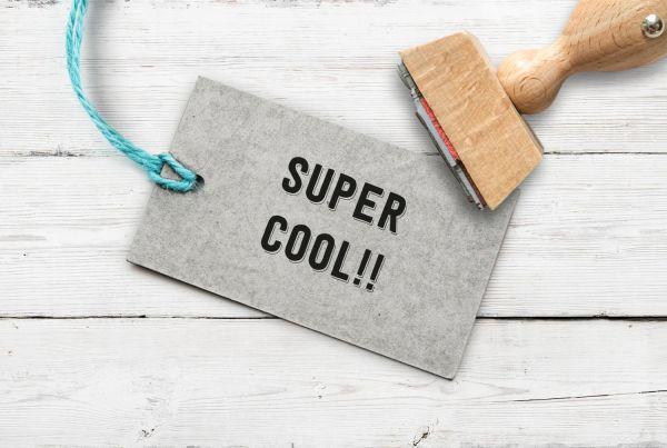 """Stempel """"super cool"""""""