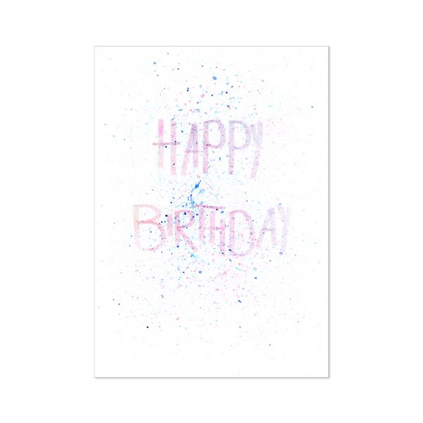 "Postkarte ""Happy Birthday Dots"""