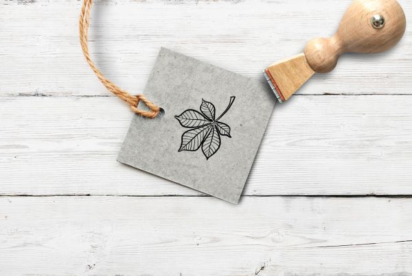 Stempel Kastanienblatt, klein
