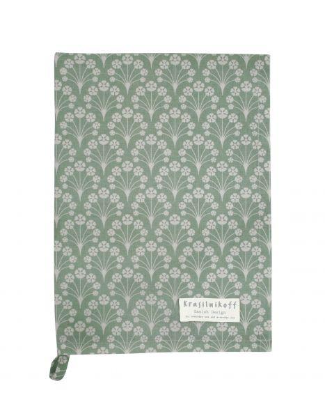Geschirrtuch, Bouquet, mintgrün
