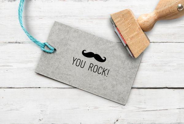 Stempel You Rock Moustache