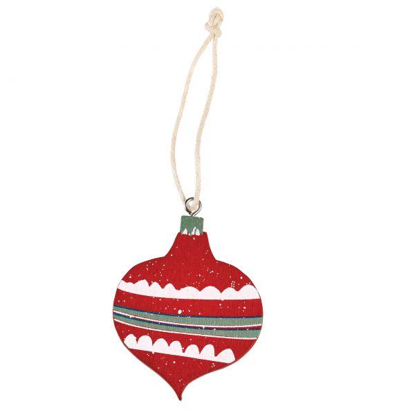 """Anhänger """"Weihnachtskugel"""" aus Holz, rot"""