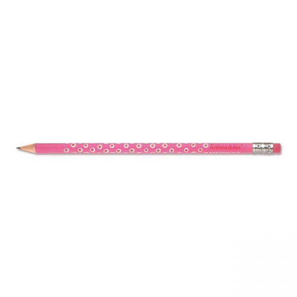 krima&isa Bleistift rosa, Tupfer weiß/rot
