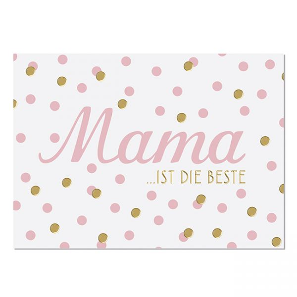 krima&isa Postkarte Beste Mama