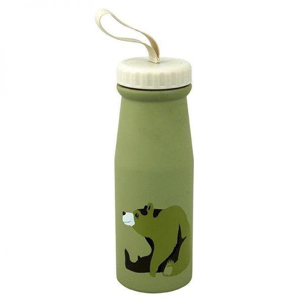 Thermoskanne/Flasche, Bär grün