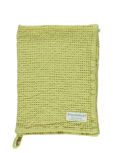 Handtuch/Geschirrtuch, Waffelstruktur, gelb