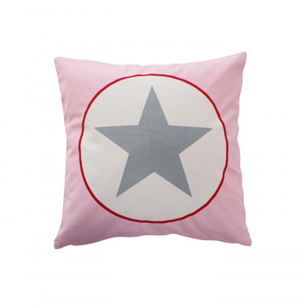 Kissenhülle, rosa mit großem Stern