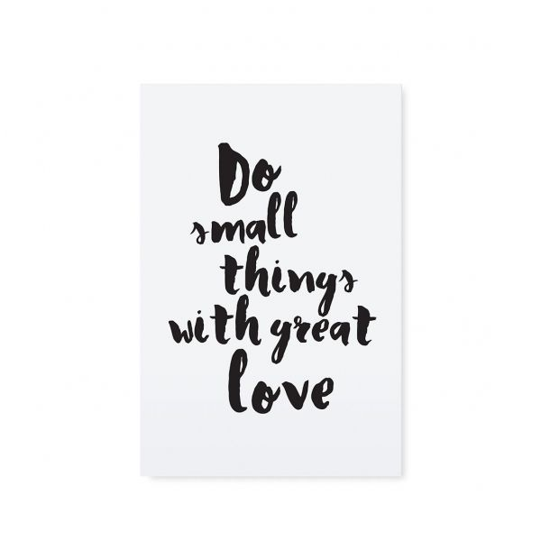 "Postkarte ""Do small things with great love"" von Tafelgut"