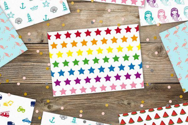 Postkarte Sterne