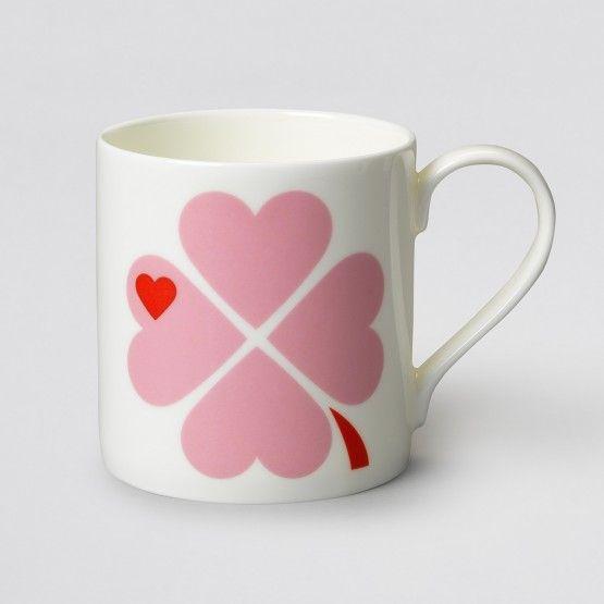 byGraziela Tasse/Becher Glücksklee rosa