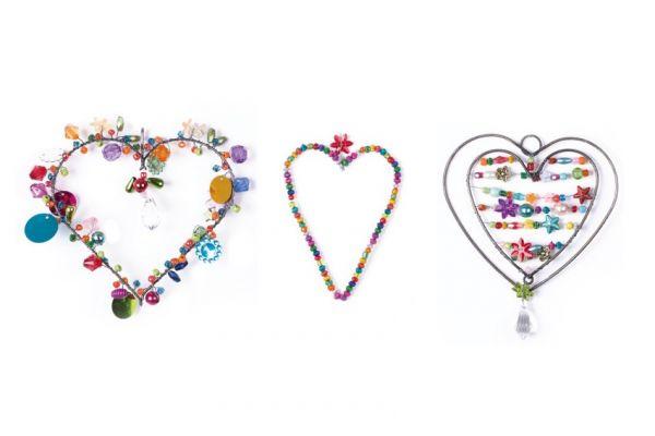 Anhänger mit Perlen Herzen, 3er Set