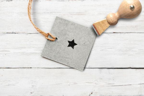 Stempel Stern gefüllt, klein
