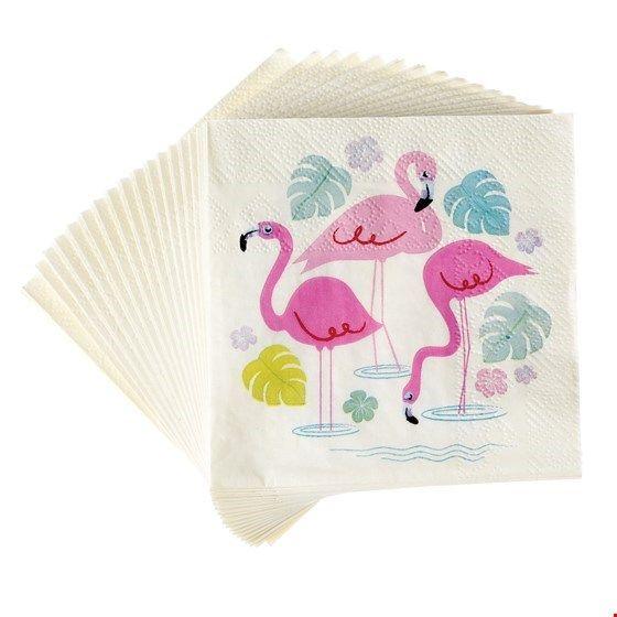 "Servietten Flamingos ""Flamingo Bay"", klein"