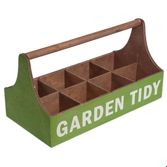 Ordnungskiste für den Garten, grün