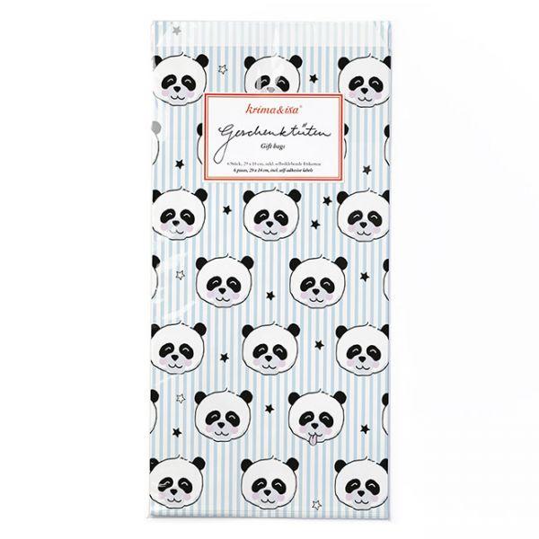 krima&isa 6 kleine Geschenktüten Panda