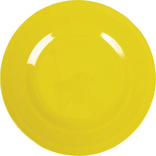 Teller aus Melamin, gelb