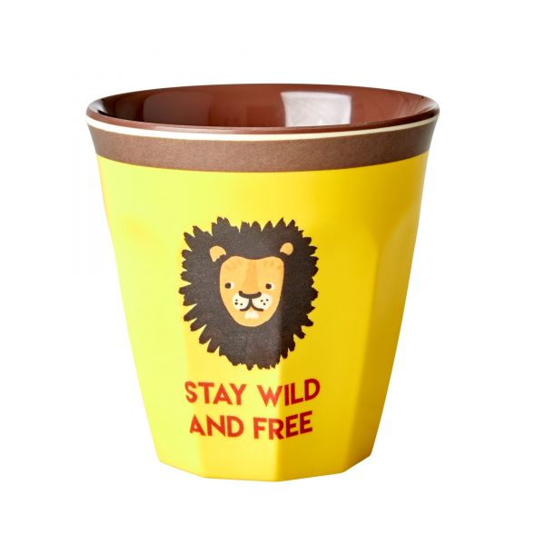 """Becher """"stay wild and free"""" Löwe"""