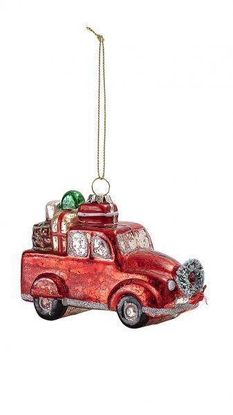 Anhänger von Bloomingville aus Glas, Weihnachtsauto 2