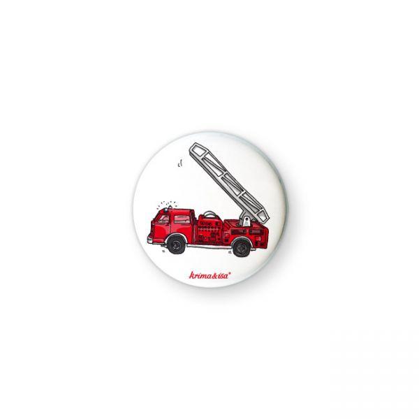 krima&isa Button Feuerwehrauto