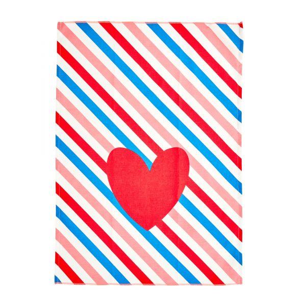 """Geschirrtuch mit Streifen """"candy stripes"""""""