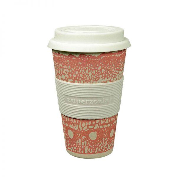 """Becher """"to go""""/cruising travel mug aus Bambus, rosa"""