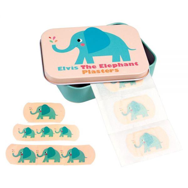 "Pflaster in Metall-Box ""Elvis the Elephant"", Elefanten"
