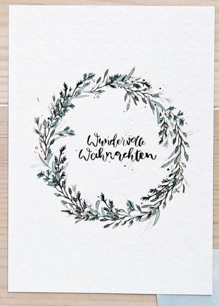 """Postkarte """"Wundervolle Weihnachten"""""""